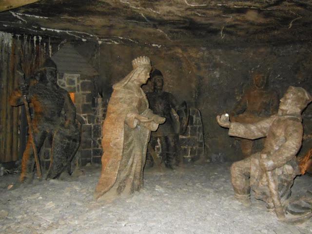 Escenas en la mina de Wieliczka