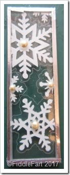 Snowflake Christmas Microscope Slide Decoration. 1