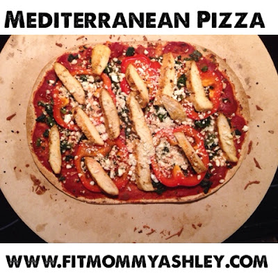chicken, flatbread, pizza, healthy, mediterranean, clean, peppers, spinach