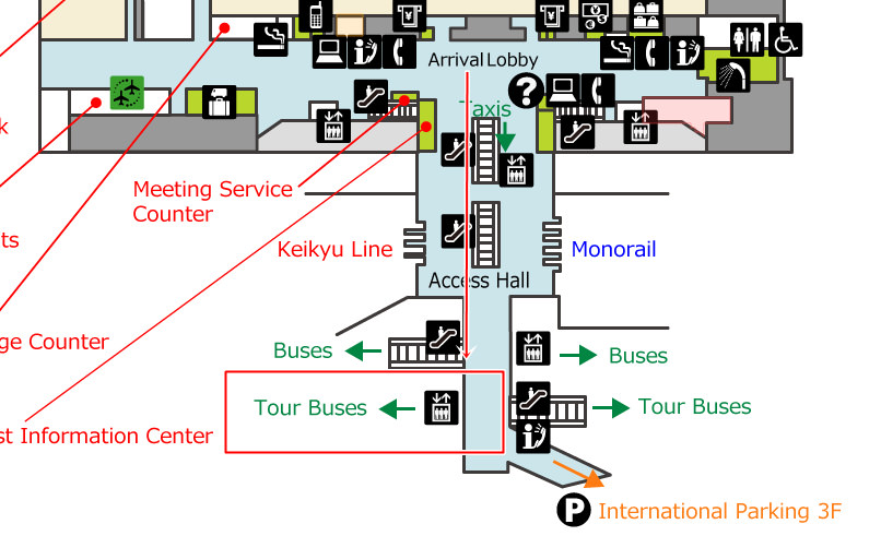 羽田機場團體巴士乘車處