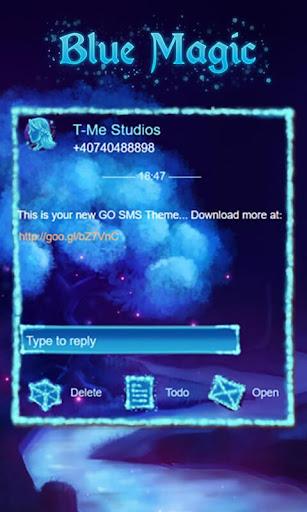 Blue Magic GO SMS|玩個人化App免費|玩APPs