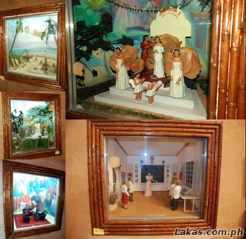 Dioramas of the life of Imelda Marcos