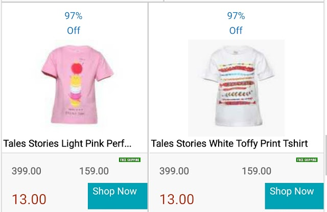 (Ended) ShopClues - Buy T-shirts For New Born Baby at Just Rs.13