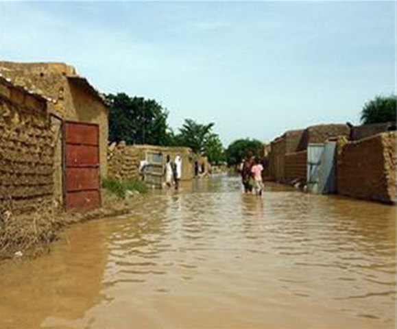 Flooding in Niamey, Niger, 6 August 2018. Photo: AFP