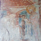 105. Fresco of The Presentation of the Child Jesus in the temple. Church of Santa Maria foris portas. Castelseprio. Province of Varese. 2013