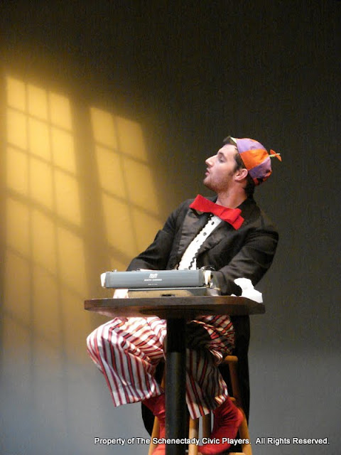 """Paul Dederick in """"Words, Words, Words"""" as part of THE IVES HAVE IT - January/February 2012.  Property of The Schenectady Civic Players Theater Archive."""