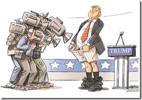 Trump Cagle cartoon - Full disclosure