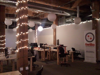 Twilio offices at night