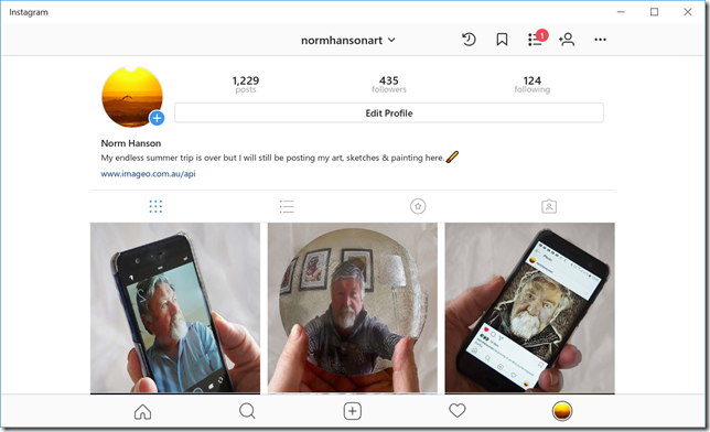 What's going on in my instagram profile gridl?