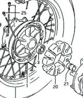 Ruckdämpfer Kettenradträger
