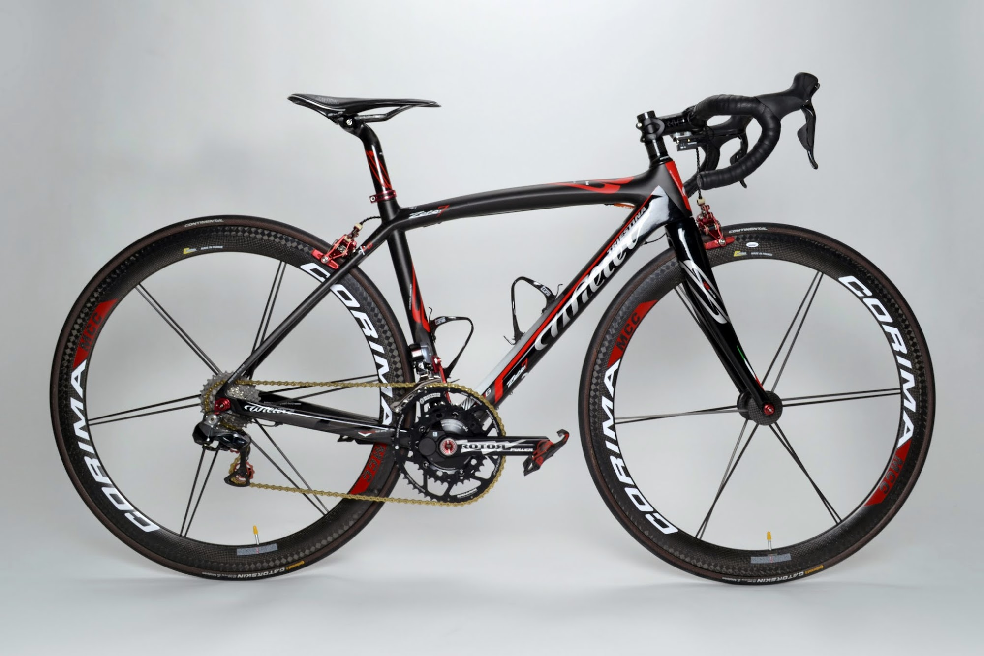 www.twohubs.com: Wilier Triestina Zero.7 Shimano Dura Ace 9070 Di2 Comina Aero MCC Complete Bike