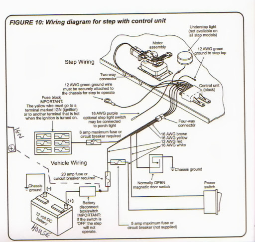 rv net open roads forum tech issues adding ign hot feed to kwikee rh rv net Kwikee Electric Step Wiring Diagram PDF RV Electric Steps Troubleshooting