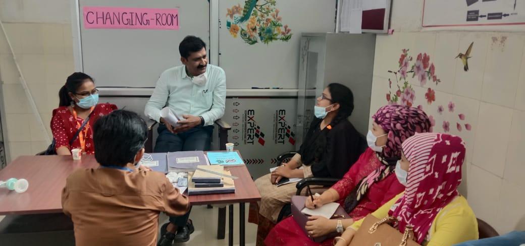 अररिया/बिहार:लक्ष्य प्रमाणीकरण के लिये सदर अस्पताल में उपलब्ध सुविधाओं का अधिकारियों ने किया निरीक्षण