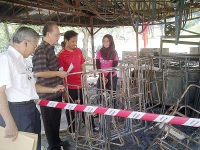 Kedai makan terbakar angkara perbuatan khianat, kata Halim 2 By 2