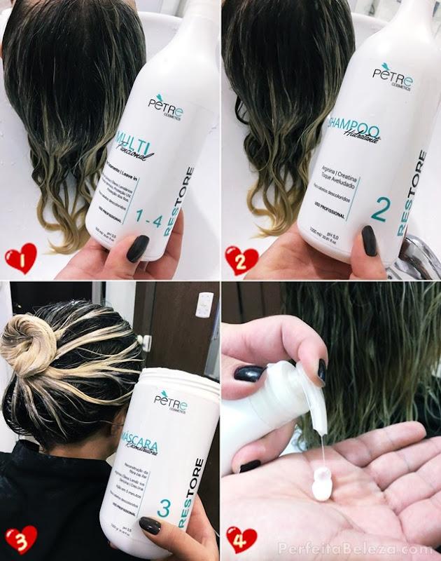 tratamento para cabelos descoloridos pétre cosmetics