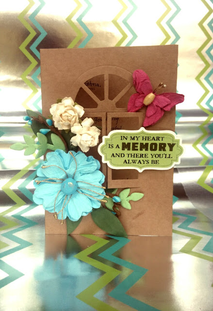 Hand-made card, hand-made flowers,
