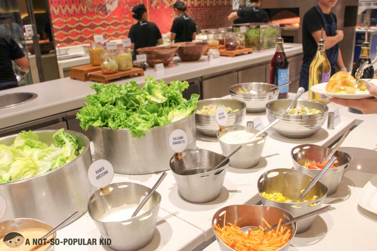 Salad Station of S Kitchen, Sheraton Hotel