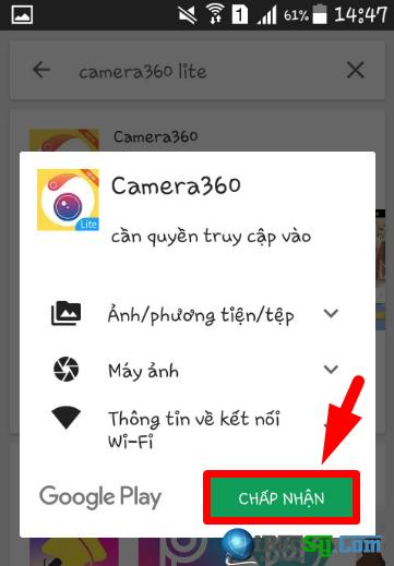 Hướng dẫn tải và cài đặt Camera360 Lite cho điện thoại Android + Hình 5