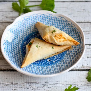 Lightened-Up Buffalo Chicken Phyllo Turnovers