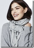 Pure Cotton silver grey marl pom pom scarf