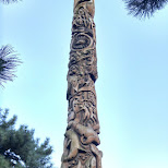 the largest totem pole at Norway Park in Toronto in Toronto, Ontario, Canada