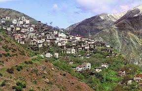 Общий вид на Артвин (теперь в Турции) из небольшого городка Свет, 1910 год