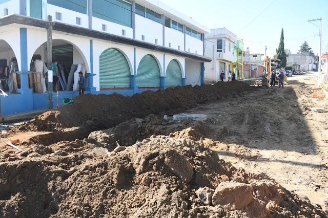 Avanzan obras en la colonia Guerrero de Tepeyanco