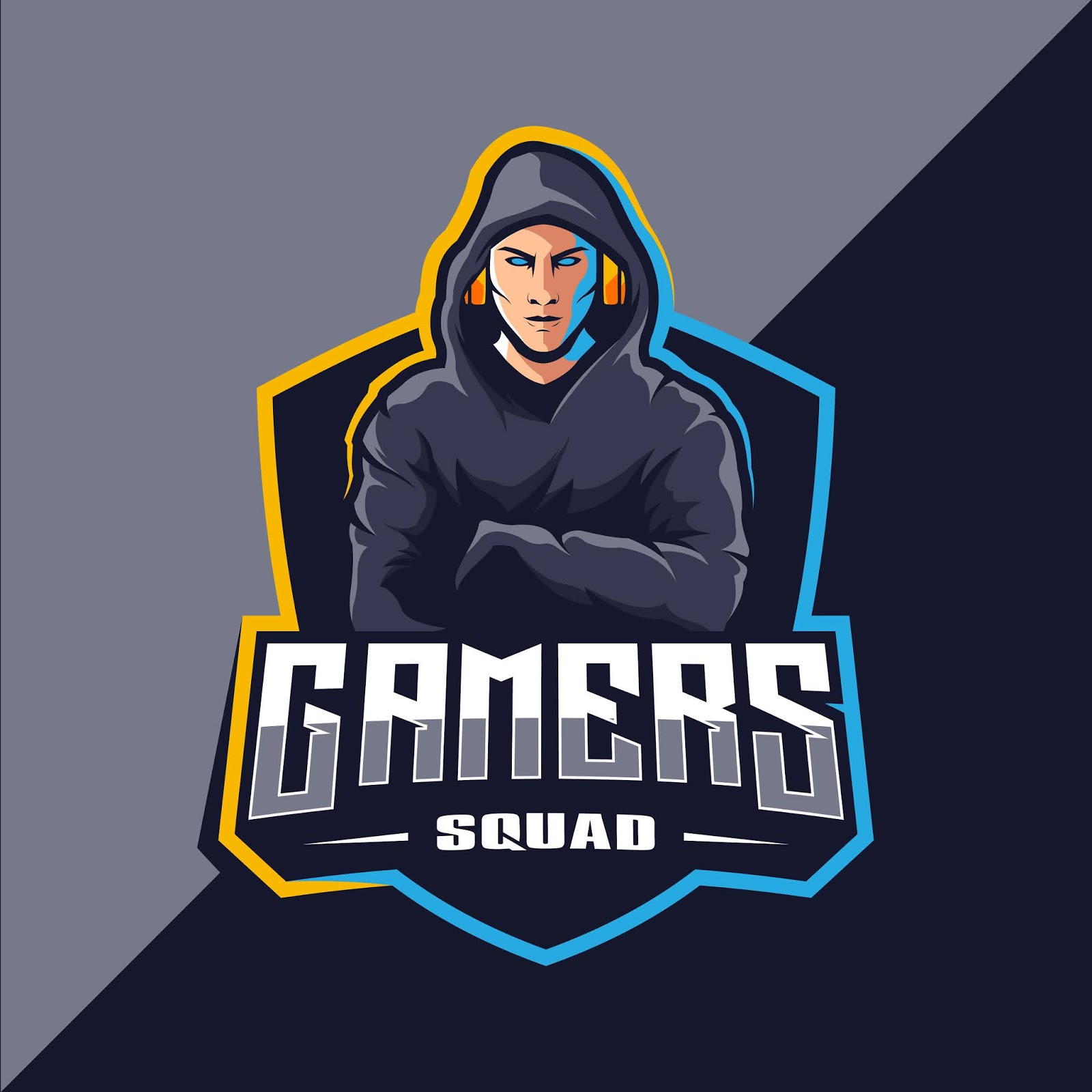 Gamer Esport Mascot Logo Design Free Download Vector CDR, AI, EPS and PNG Formats