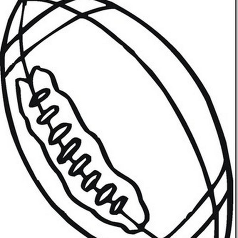 dibujo de pelota de Rugby para colorear