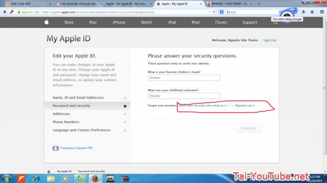Hình 9 - Hướng dẫn cách đổi mật khẩu iCloud trên Apple ID