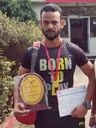 नेशनल पावर लिफ्टिंग प्रतियोगिता में असलम ने मध्यप्रदेश को दिलाया छटबा स्थान | Shivpuri News