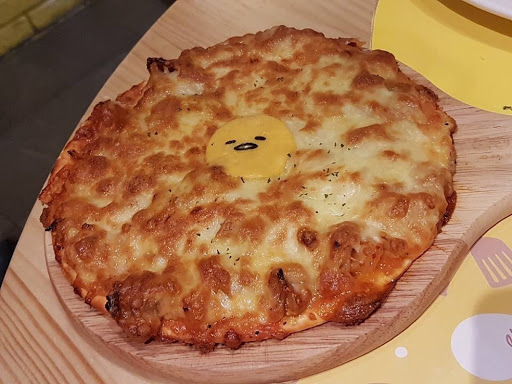 Kimchi Gudetama Pizza from Gudetama Chef at Zhongxiao Dunhua Taipei