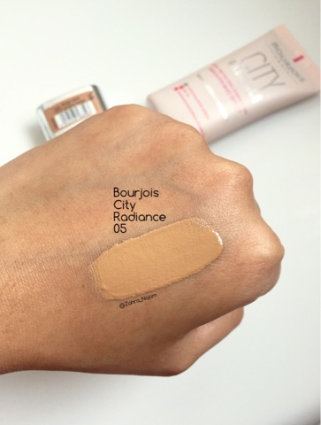 bourjois city radiance foundation spf 30 in 05 golden beige beige dor review beauty and the. Black Bedroom Furniture Sets. Home Design Ideas