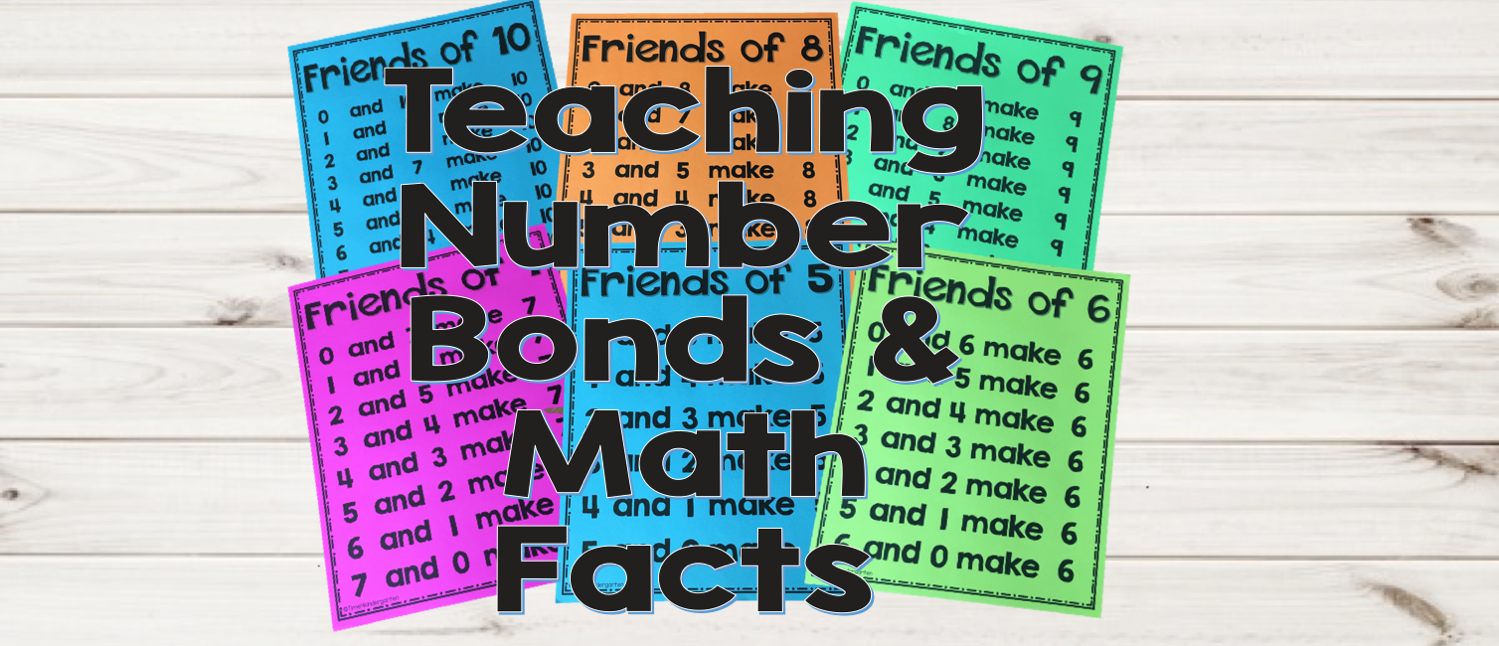 numbeer bonds math fact fluency- eas ways to teach fact fluency to kindergarten and first grade with minimal manipulatives.