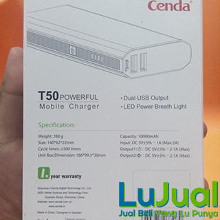 Tampilan Box Belakang - CENDA T50 | LuJual