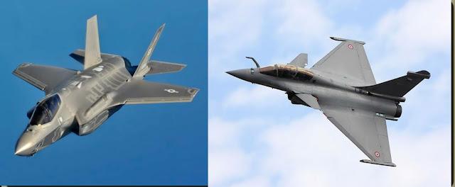 Lockheed Martin F-35 Lightning II and Dassault Rafale