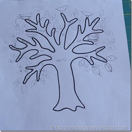nebraska views family tree quilt