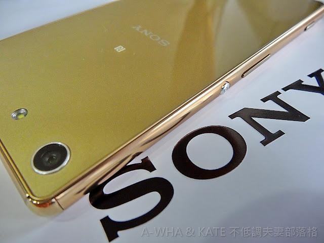 【低調開箱】Sony Xperia M5水水機金色開賣啦~還送Sony行動電源喔