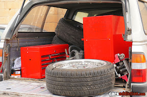 Mobile drift car workshop
