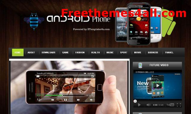 Free Iphone Magazine Blogger Template