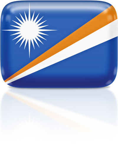 Marshallese flag clipart rectangular
