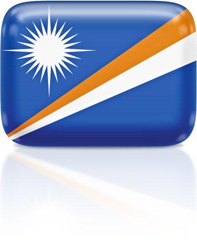 Marshallese flag clipart rectangular