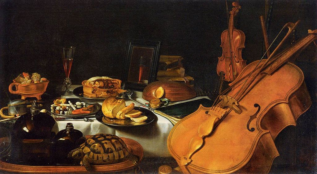 Pieter Claesz - Still-Life with Musical Instruments - 1623
