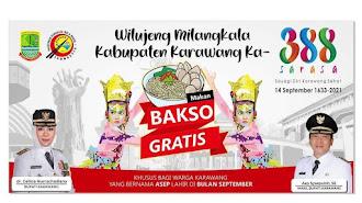 Kabar Gembira: Bagi Warga Karawang Mulai 14 September 2021 Bisa Makan Bakso Gratis, Di Sini Lokasinya