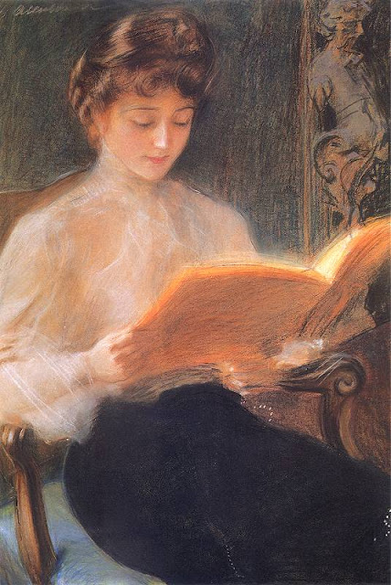 Teodor Axentowicz - Reading