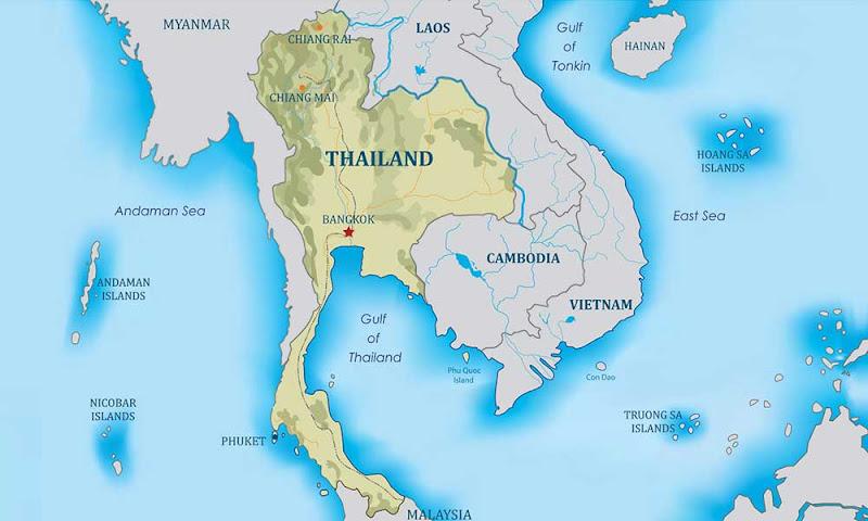 mapa clima tailândia