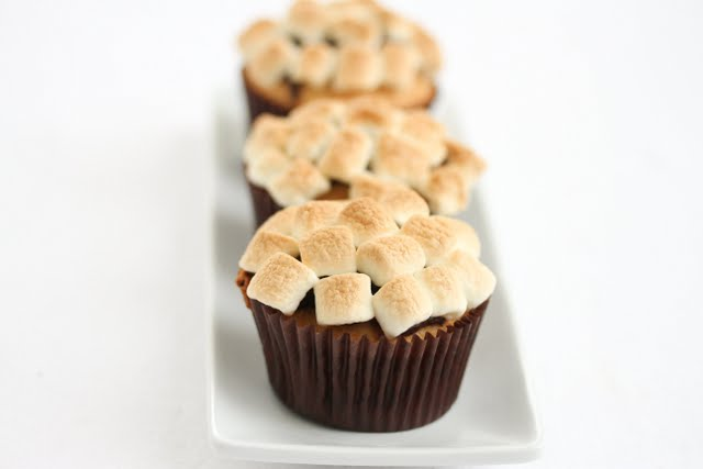 close-up photo of S'more Cupcake