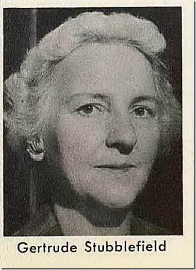 Gertrude Stubblefield 1959