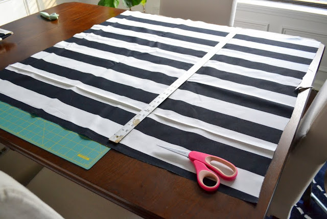 ikea black white stripe fabric