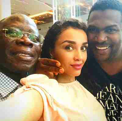 Adams Oshiomole & wife spotted with Nollywood filmmaker, Elvis Chuks in LA
